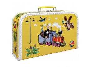 Kufřík s krtečkem a mašinkou žlutý maxi
