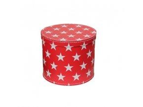 Krabice červená s hvězdami malá
