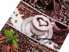 Bavlněné vaflové piké šíře 50 cm káva