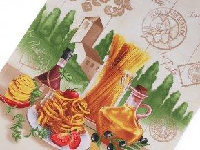 Bavlněné vaflové piké šíře 50 cm špagety