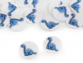 """Knoflík dětský velikost 24"""" dinosaurus"""