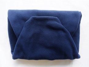 Vak do pufu 50x35 cm tmavě modrý