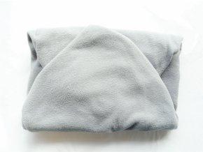 Vak do pufu 50x35 cm středně šedý