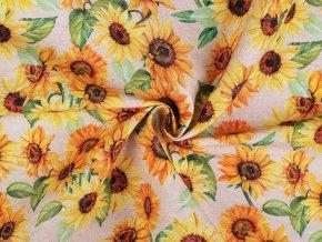 Dekorační látka Loneta slunečnice