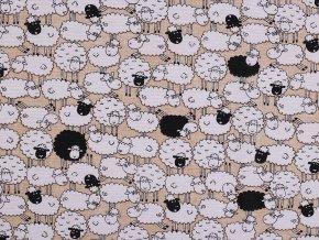 Dekorační látka Loneta ovečky