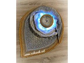 """Návod na háčkovaný šátek """"Naděje adventu"""""""