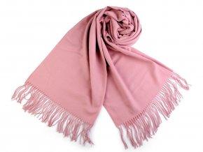 Šátek / šála typu pashmina s třásněmi 65x180 cm 2. jakost