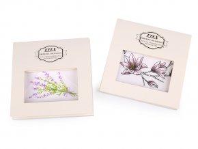 Dámský kapesník levandule, magnolie / dárková kazeta