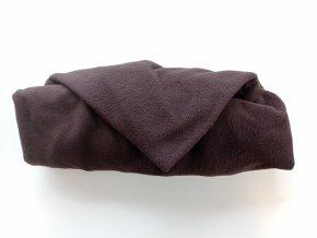 Vak do pufu 50x35 cm tmavě hnědý