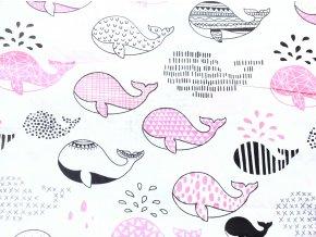 Plátno Velryby růžové