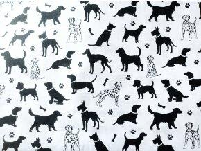Plátno Černí psi na bílé
