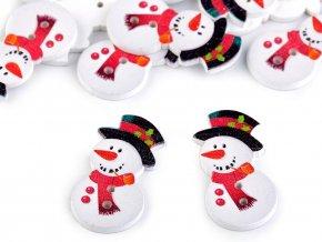 Knoflíky sněhuláci