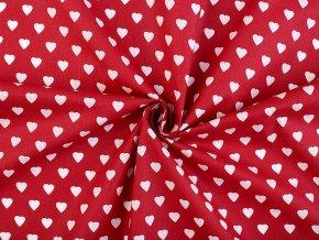 Bavlněná látka srdce