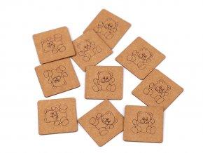 Nášivka / štítek z pratelného papíru medvěd