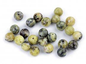Minerálové korálky Žlutý tyrkys Ø8 mm