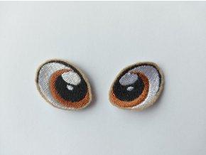 Vyšívané oči tvarované 2 cm hnědé #4