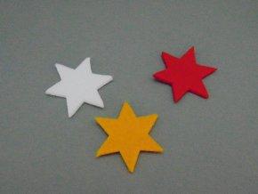 Výsek z filcu hvězda bílá