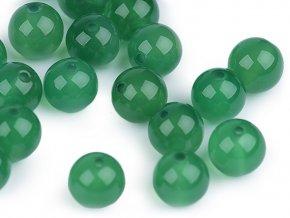 Minerálové korálky Achát zelený Ø8 mm