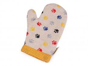 Kuchyňská chňapka / rukavice s magnetem