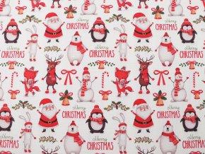 Dekorační látka Loneta vánoční