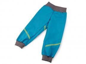 Dětské softshellové kalhoty s reflexním pruhem
