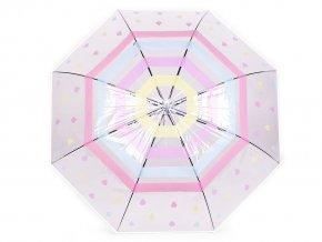 Vystřelovací deštník průhledný