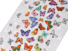 Bavlněné vaflové piké motýl