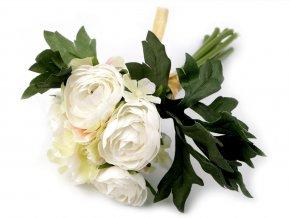 Umělá kytice pryskyřník a hortenzie