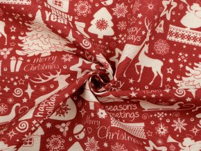 Dekorační látka Loneta vánoční motivy