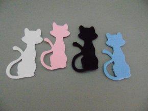 Výsek z filcu kočka světle modrá