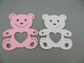 Výsek z filcu medvídek sv.růžový