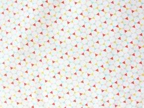 Plátno Trojúhelníky letní