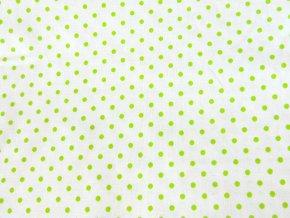 Plátno Puntíky zelené střední
