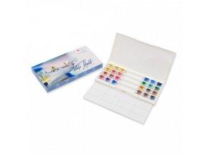 Akvarelové barvy White Nights 24 barev, plastová kazeta