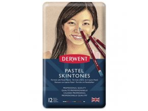 Suché pastely Derwent Pastel Pencil Skintones, 12 barev