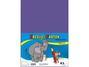 Kreslící karton A3 - fialový