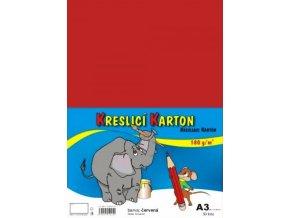 Kreslící karton A3 - červený