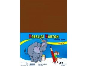 Kreslící karton A3 - hnědý