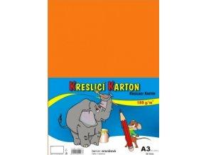 Kreslící karton A3 - oranžový