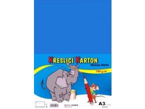 Kreslící karton A3 - modrý středně