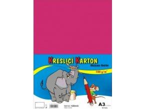 Kreslící karton A3 - růžový