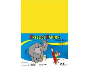 Kreslící karton A3 - žlutý
