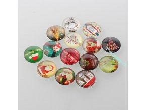 Mix vánočních kabošonů 25 mm