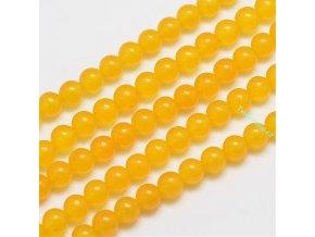 Jadeit žlutý 6 mm