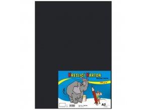Kreslící karton A2 180g 10 ks - černý
