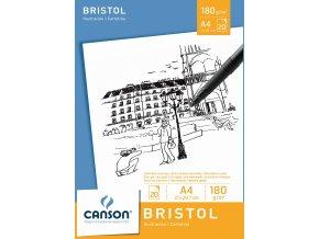 Grafický papír Canson BRISTOL A4, 180 g, 20 listů