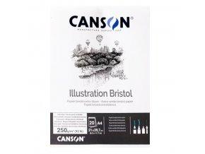 Grafický papír Canson BRISTOL blok A3, 250 g, 20 listů