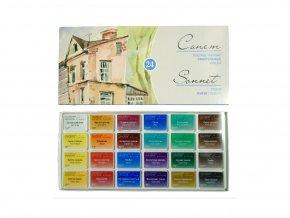Akvarelové barvy Saint Peterburg SONNET - sada 24 barev