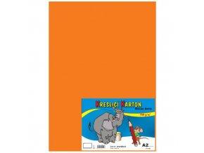 Kreslící karton A2 180g 10 ks - oranžový
