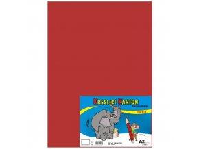 Kreslící karton A2 180g 10 ks - červený